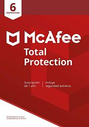 McAfee Total Protection 2020, 6 Dispositivos, 1 Año, Software Antivirus, Seguridad de Internet, Manager de Contraseñas, Múltiples Dispositivos, PC/Mac/Android/iOS, Edición Europea, Descarga