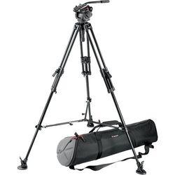 Manfrotto Pro Video Head + Tripod + Spreader Kit voor camera's (zwart, 5,99 kg, 160,3 cm)