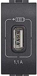 Legrand L4285C1 USB-LADEMODUL, Anthrazite