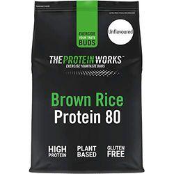 Proteína de Arroz Integral 80 | Sin sabor, 1 kg | Proteína sin Gluten
