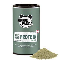 Hanfproteinpulver Bio mit 50% pflanzlichem Protein aus Österreich, Hanfpulver fein gemahlen Bio laborgeprüft & zertifiziert, perfekt geeigent als veganes Proteinpulver, 175g von Green Panda