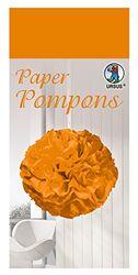Paper Pompons, zijdepapier, 50 x 70 cm, 10 vellen in de kleur oranje