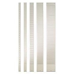 Nobo 1900392 Kartentafel-Zubehör Kartenträger für Stecksystem, Größe 1.5, 32 Schlitze, 1 Stück, grau