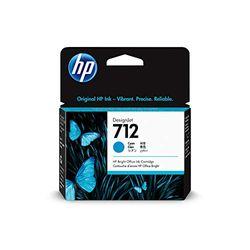 HP 712 Cyan 29 ml Original Druckerpatrone (3ED67A) mit originaler HP Tinte, für DesignJet T650, T630, T250, T230 & Großformatdrucker der Studio-Serie sowie den HP 713 DesignJet Druckkopf