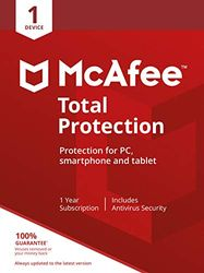 McAfee Total Protection 2020   1 Device   PC/Mac/Android/Smartphones   Activation code by post 1 Device 1 One time PC Download
