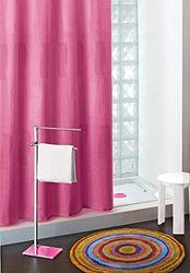 Gedy Extra Lange 100% Polyester Douchegordijn Monocromo Roze Fucsia - 188x200cm & Ringen - CO118-110