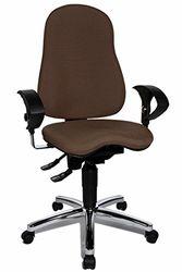 Bureaudraaistoel Sitness 10, inclusief in hoogte verstelbare armleuningen donkerbruin