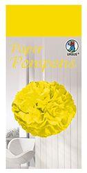 Paper Pompons, tissuepapier, 50 x 70 cm, 10 vellen in de kleur citronengeel