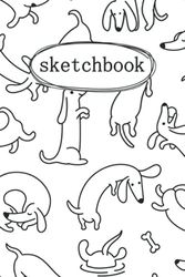 Dachshunds Sketchbook: For Kids Ages 4-16 With Thick Blank Paper For Drawing And Doodling For Boys And Girls [Cute Sketch Book With Dachshunds theme Cover 120 Pages