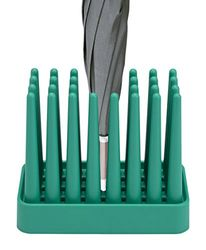 PRATO Design paraplustandaard, robuust, antislip en ruimtebesparend, geschikt voor 8 paraplu's, groen
