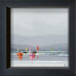 International Graphics - Postal enmarcada - Frédéric, Flanet - ''Avant l´orage I''- 16 x 16 cm - Marco disponible en 4 colores - Color del marco: Negro - Serie LUNA