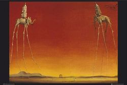 1art1 40014 Salvador Dali - Elephants Poster (91 x 61 cm)