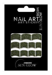 Medis Sun Glow Nagelsticker French-Style, Glitter-Sticker mit Metallic-Effekt grün