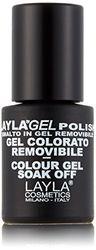 Layla Cosméticos Milano Semi Esmalte de uñas permanente empapa del polaco del gel rosa Smoothie 10ml