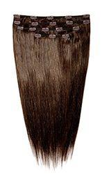 American Dream Complete Head Set Clip in Extensions - 100% echt haar Kleur 080 donker mokkabraun