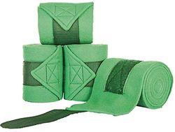 HKM 5121 polarfleece bandages, polarfleece bandages extra dik, 200 cm 300 cm 4 st, Polarfleece bandages, 300 cm, grasgroen