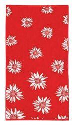 Fleuresse Terry 2932 Fb. 4 handdoek met bloemen, 70 x 140 cm, rood