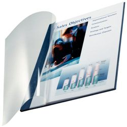 Leitz 74140035 boekenbindemap impressBIND, Soft Cover, A4, 10,5 mm, 10 stuks, blauw