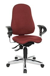 Topstar SI59UG27, Sitness 10 ergonomischer Bürostuhl, Schreibtischstuhl, inkl. höhenverstellbaren Armlehnen, Bezugsstoff bordeaux / rot