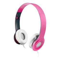 Ewent DJ-stereo hoofdtelefoon, opvouwbaar, draagbaar, 40 mm driver met neodymium magneet, roze