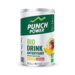 Punch POWER Marca francesa deporte Biodrink Antioxydant Ecológica Bebida Sabor Frutas Exóticas 500 g