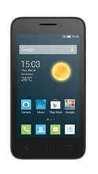 Alcatel Onetouch Pixi 3 Smartphone (Dual Core, 1GHz), 4,0 inch Display, volcano black