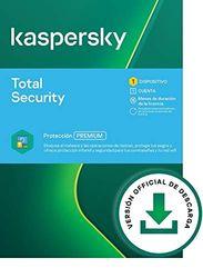 Kaspersky Total Security 2021   1 Dispositivo   15 Meses   PC / Mac / Android   Código de activación vía correo electrónico   Código de activación enviado por email