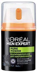 Crema hidratante L'Oreal Men Expert Pure Power para el cuidado diario facial, para hombre, una unidad de 50 ml