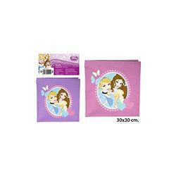 Disney–Handtuch Kinder Canvas-fach sortiert,–princess-, 30x 30cm.
