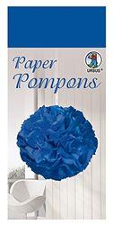 Paper Pompons, tissuepapier, 50 x 70 cm, 10 vellen in de kleur californiblauw