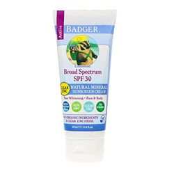 Badger Sunscreen Cream 30 Clear Zink Unscented, 87 ml