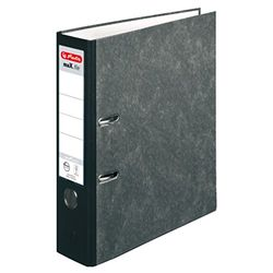 Herlitz 10900256 ordner maX.file natuur pocket, A4, 8 cm, wolkenmarmerovertrek, insteekrugplaat, FSC Mix