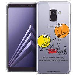 Beschermhoes voor Samsung Galaxy A8 Plus 2018, ultradun, motief: Shadoks Vivre