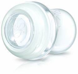 Nuby NT67627 Natural Touch moedermelkreservoir van polypropyleen 240 ml met schroefring en siliconendeksel/geschikt voor het bewaren in de koelkast en vriezer/verpakking van 2, transparant