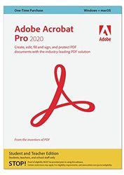 Adobe Acrobat   Pro, Student and Teacher   1 Usuario   Mac   Código de activación Mac enviado por email