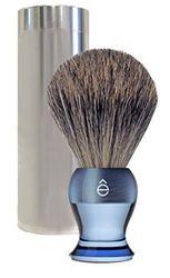 eShave Fijne Travel Brush met Canister Blauw