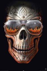 Empire 375490 Anne Strokes - Hellfire - Skull - Gothic Poster - 61 x 91,5 cm