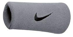 Nike Swoosh Doublewide Schweißbänder, matte silver/black, OSFM