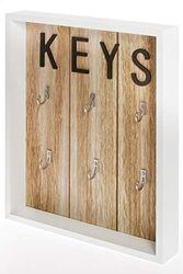My Flair Schlüsselkasten, MDF, 24 x 4 x 30 cm
