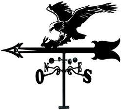 Arthifor - Veleta de Viento de Hierro para Tejado con Silueta de Águila.