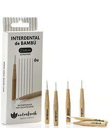 NATURBRUSH Interdental Borstel, extra dun, 0,6 mm, bamboe, 6 stuks, standaard, uniek