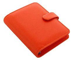 Agenda Filofax de bolsillo de en piel saffiano brillante, color naranja Tasche
