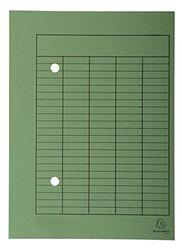 Exacompta 353525B omloopmap (van gerecycled karton 250 g, met organisatiedruk Forever, voor formaat DIN A4) 1 stuk groen