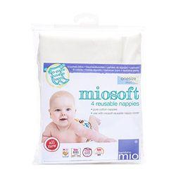 Bambino Mio Inserto Predoblado Mioduo Reutilizable, miosoft pañal de tela, Blanco, talla única, 4 unidades