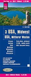 USA 3: Medio Oeste 1: 250.000 impermeable: reiß- und wasserfest (world mapping project)