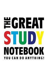 The Great Study Notebook (You can alles doen!): (White Edition) Fun notebook 96 gerold/gelinieerde pagina's (5x8 inch/12,7x20,3 cm/Junior Legal Pad / Nearly A5)