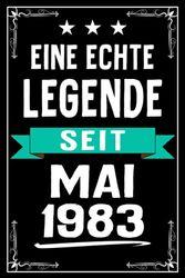 Eine Echte Legende seit Mai 1983: Lustiges Notizbuch A5 I Dotted I 120 Seiten I Tolles Geschenk zum Geburtstag für Kollegen, Familie & Freunde