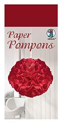Paper Pompons, tissuepapier, 50 x 70 cm, 10 vellen in de kleur donkerrood