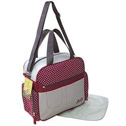 GMMH 2130 - Conjunto de bolsa para bebé (2 piezas, cambiador, bolsa para pañales, bolsa para bebé), color rojo