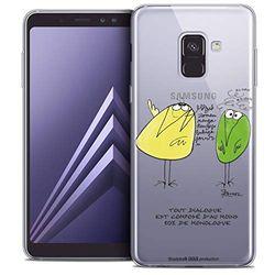 Beschermhoesje voor Samsung Galaxy A8 2018, ultradun, motief: Le Dialogue
